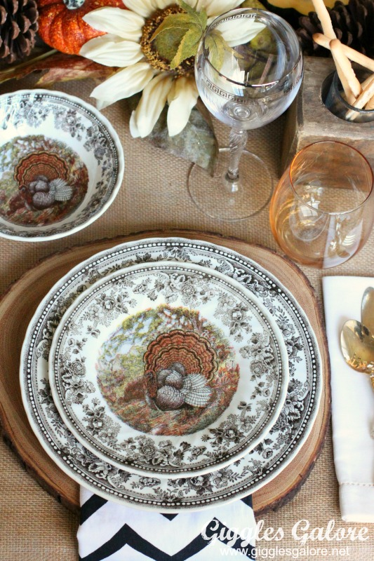 Harvest Dinner Table Place Setting