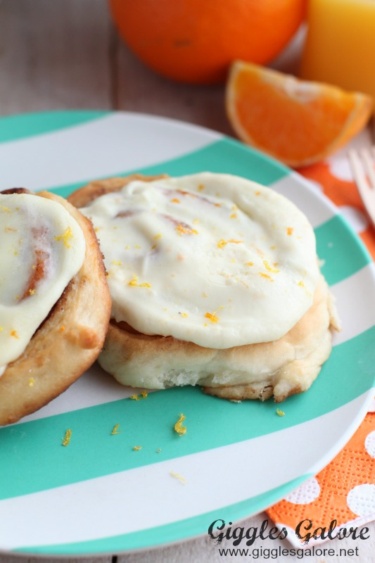 Homemade Cinnamon Rolls Orange Cream Cheese Icing