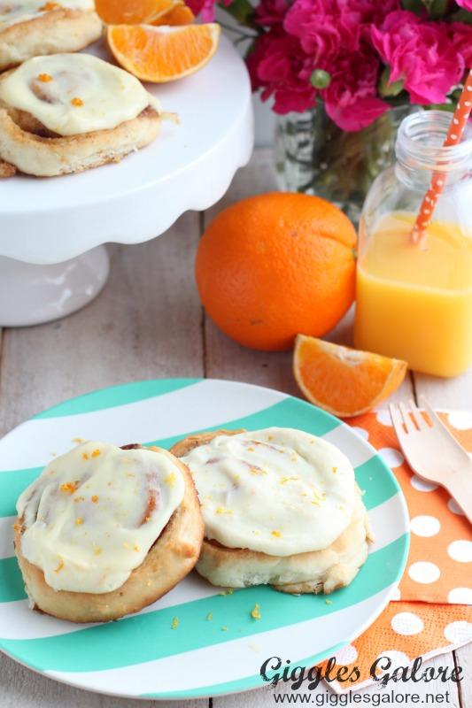 Morning Cinnamon Rolls with Orange Cream Cheese Icing