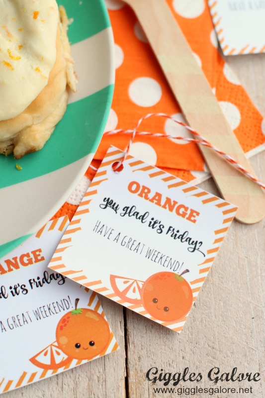Orange You Glad Cinnamon Roll Printable Tag