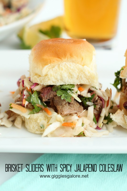 Brisket Sliders with Spicy Jalapeno Coleslaw_Giggles Galore