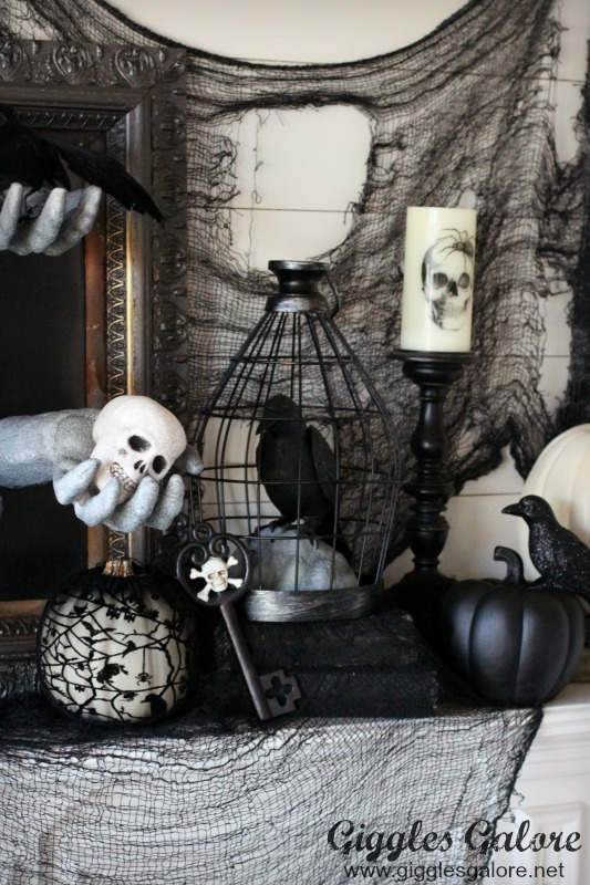 Creepy Halloween Mantle Decorations