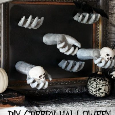 DIY Creepy Halloween Hand Picture Frame