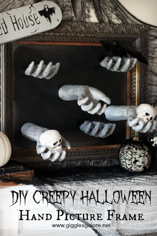DIY Creepy Halloween Hand Picture Frame_Giggles Galore