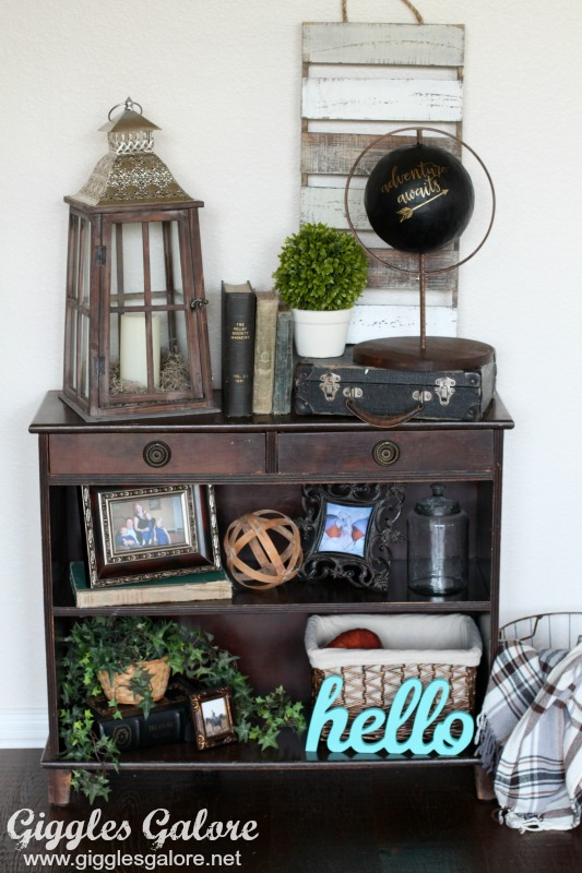 DIY Faux Globe Bookshelf Decor