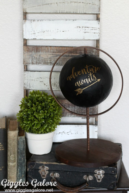DIY Faux Globe Decoration