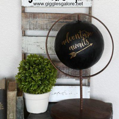 DIY Faux Globe
