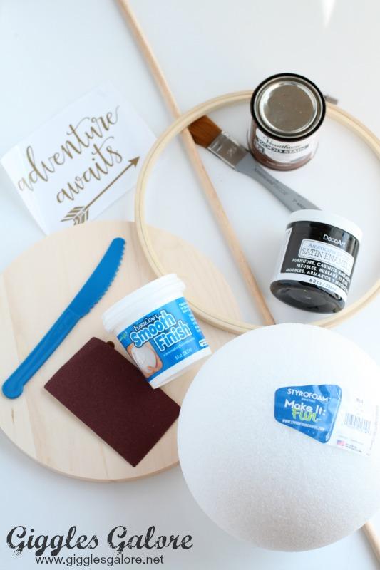 DIY Faux Globe Supplies