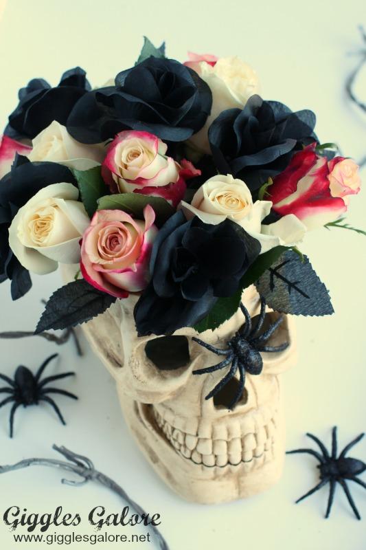 DIY Floral Skull Centerpiece