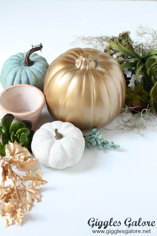 DIY Succulent Pumpkin Planter Supplies