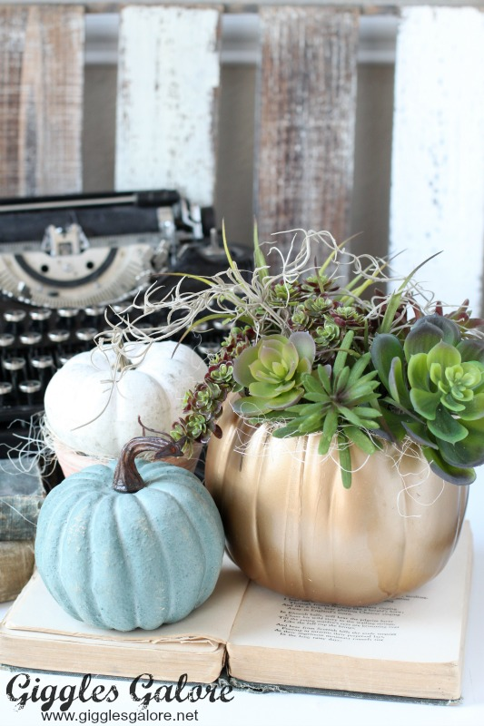 DIY Succulent Pumpkin Planter for Fall