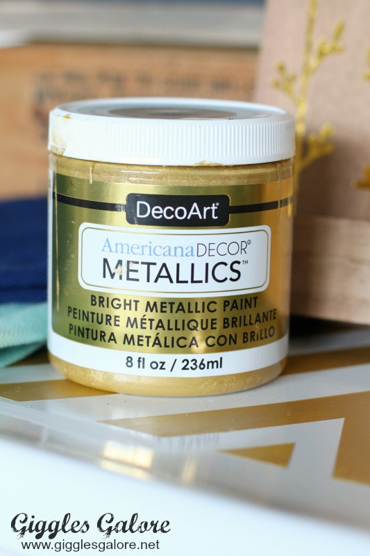 DecoArt Americana Metallic Soft Gold Paint