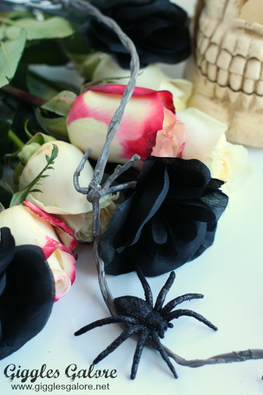 Flowers for Skull Centerpiece