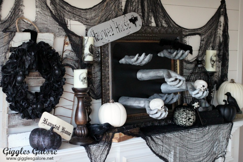 Haunted House Creepy Hand Picture Frame