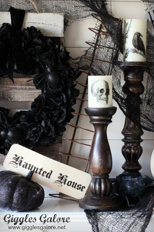 Haunted House Mantel Decor