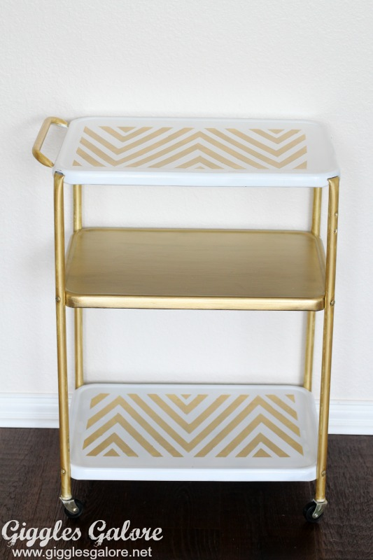 Metallic Painted Bar Cart