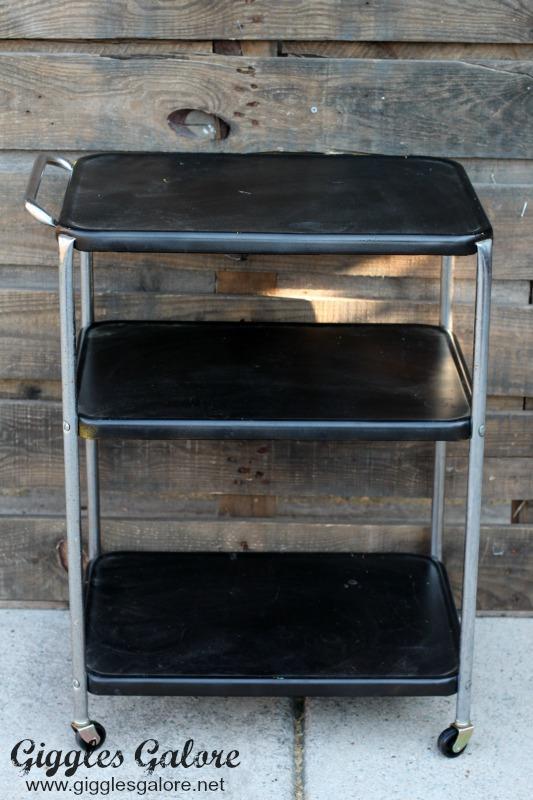Old Metal Bar Cart