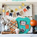 Painted wood pumpkins for fall mantel giggles galore