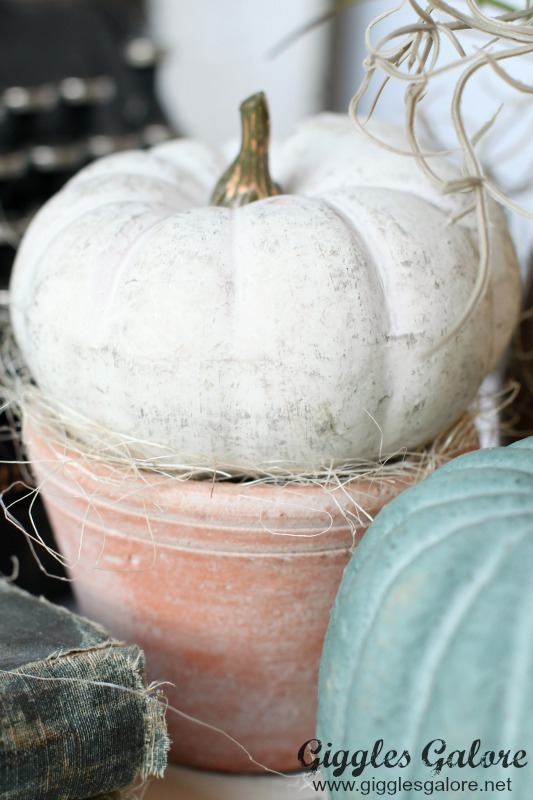 Rustic Pumpkin Planter