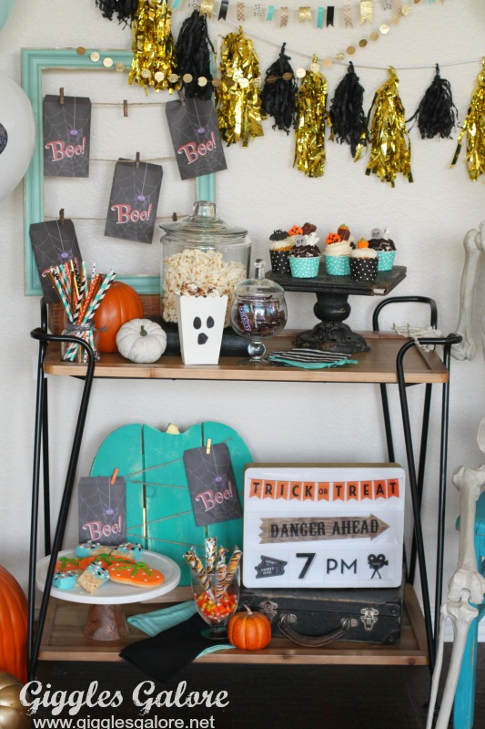 Sweets and Treats Movie Night Bar Cart