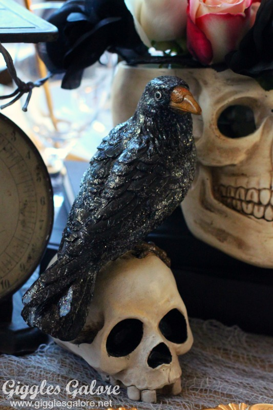 World Market Creepy Raven on Skull