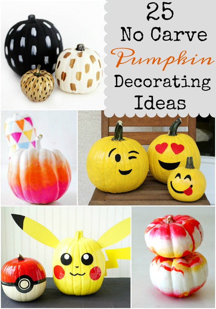 25 No Carve Pumpkin Decorating Ideas , Giggles Galore