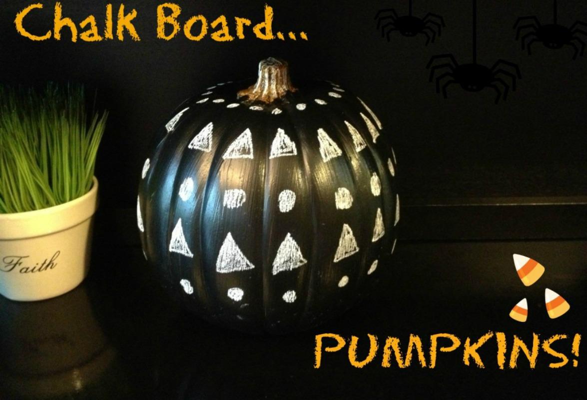 Chalkboard Pumpkins, 25 No Carve Pumpkin Decorating Ideas