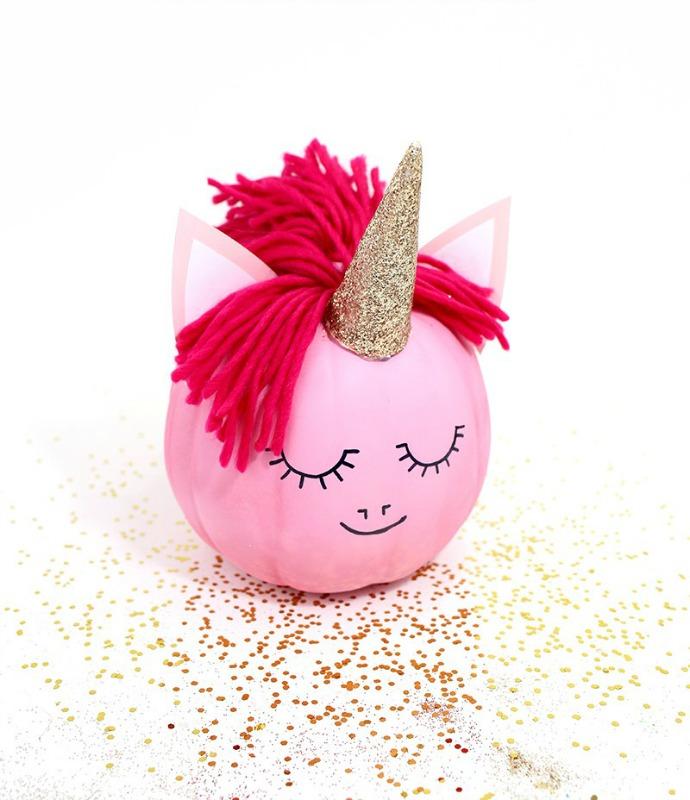 DIY Unicorn Pumpkin, 25 No Carve Pumpkin Decorating Ideas