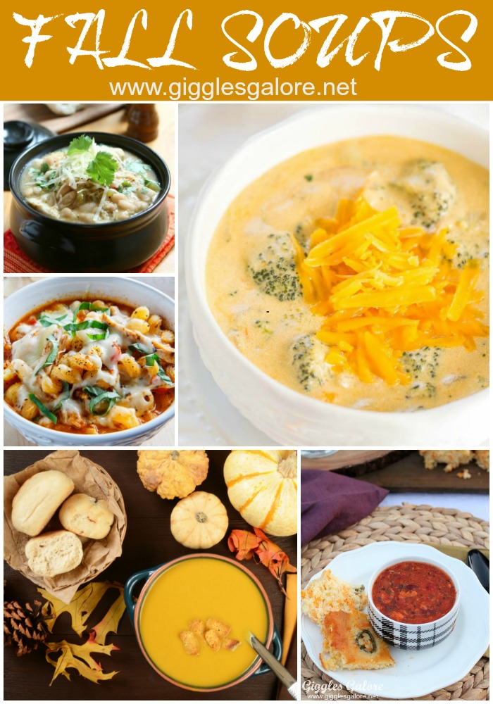 Fall Soups via Giggles Galore