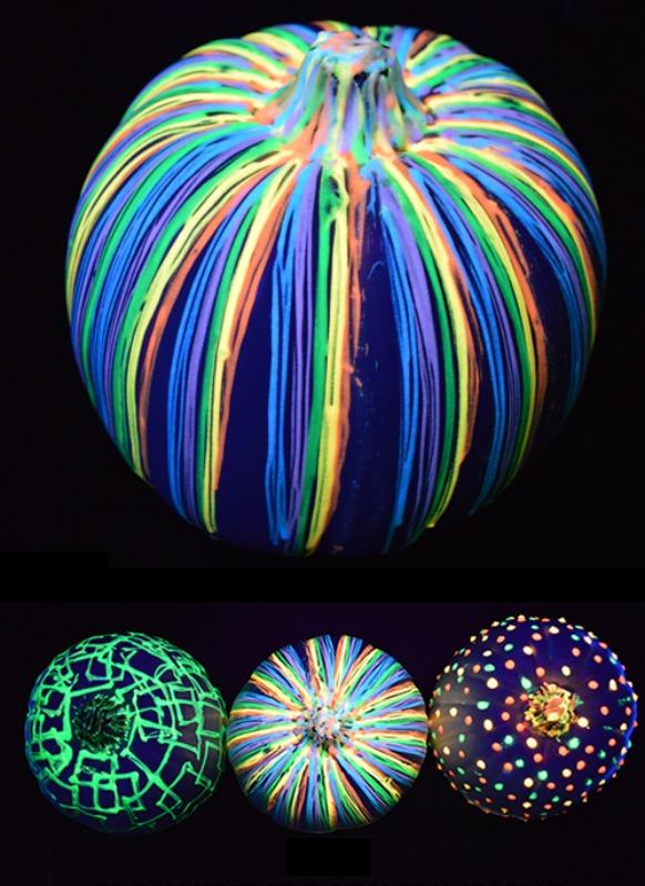 Glow in the Dark Pumpkins, 25 No Carve Pumpkin Decorating Ideas