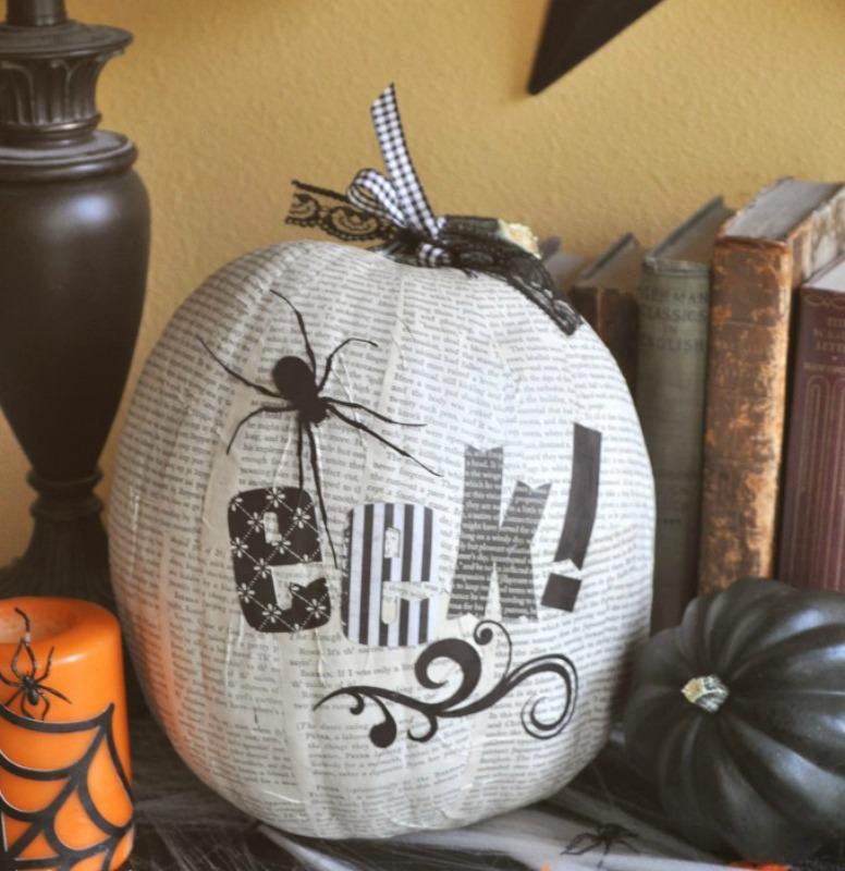 Halloween Decoupage Pumpkin, 25 No Carve Pumpkin Decorating Ideas