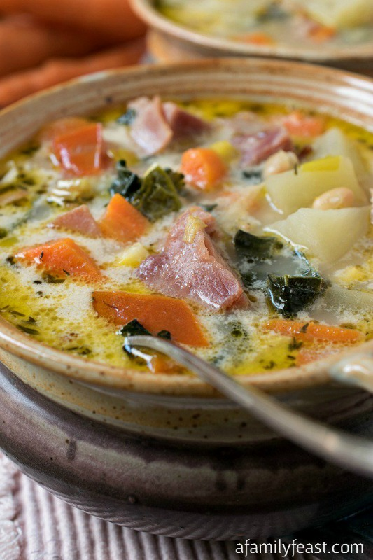 Ham and Vegetable Soup, Warm and Cozy Fall Soups