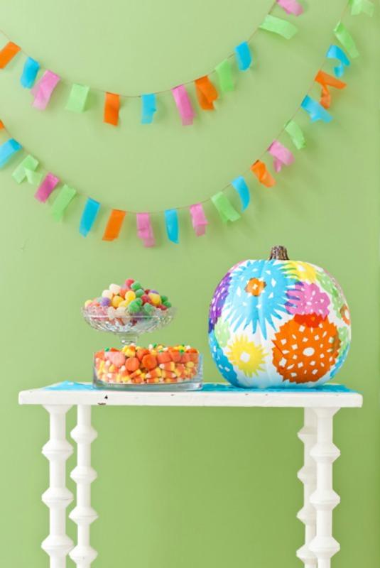Happy Hued Pumpkin, 25 No Carve Pumpkin Decorating Ideas