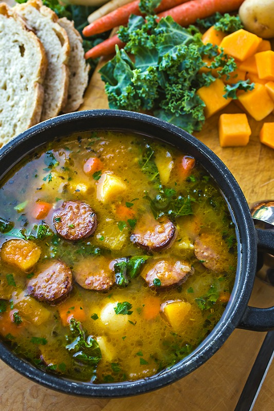 Harvest Stew with Smoked Sausage, Warm and Cozy Fall Soups