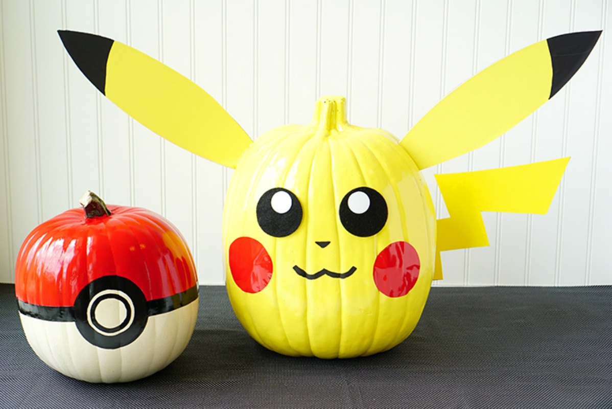 Pokemon Pumpkins, 25 No Carve Pumpkin Decorating Ideas