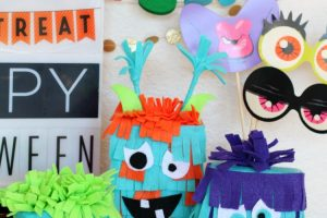 Silly Halloween Felt Monsters