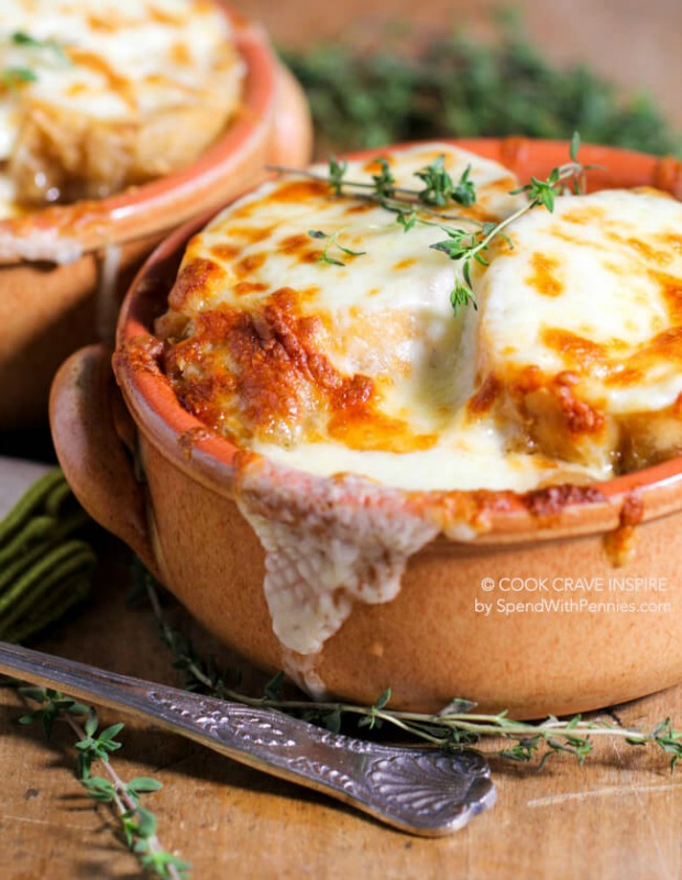 Slow Cooker French Onion Soup, Warm and Cozy Fall Soups