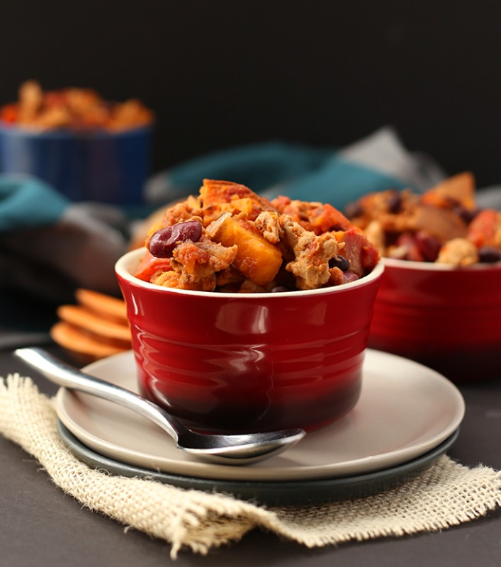 Sweet Potato Turkey Chili, Warm and Cozy Fall Soups