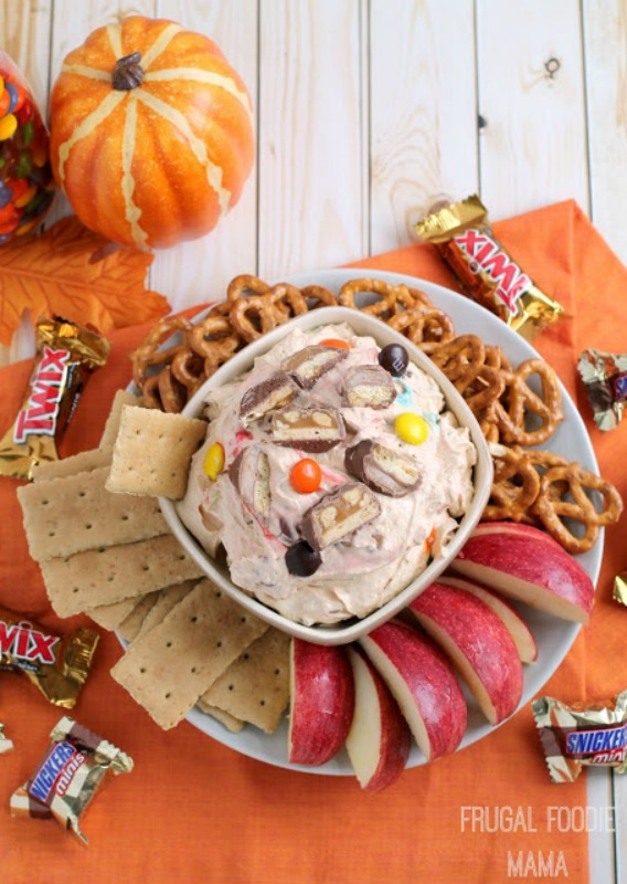 Trick or Treat Pumpkin Pie Dip, Leftover Halloween Candy Recipes