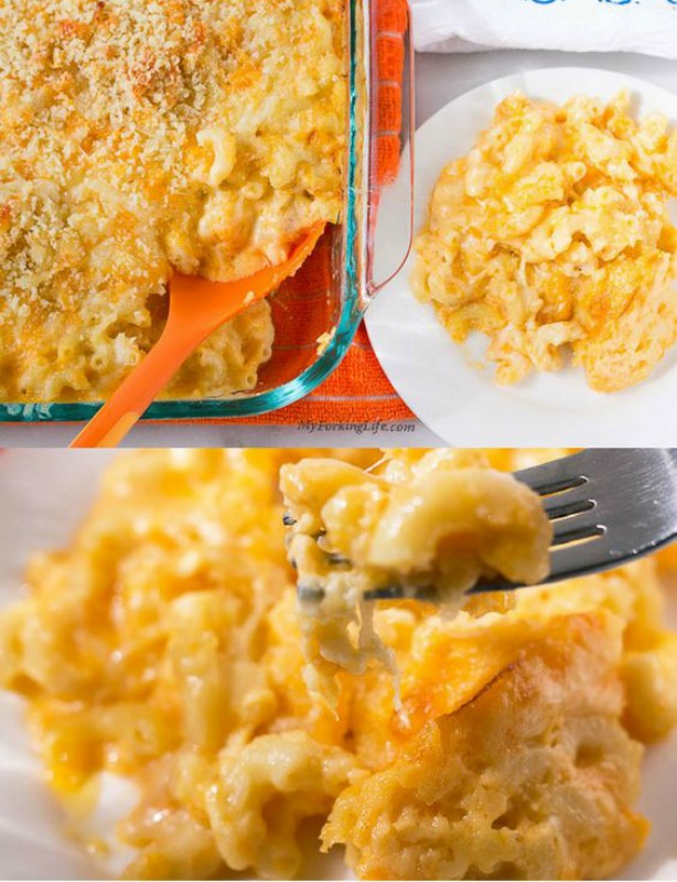 Creamy Baked Macaroni and Cheese,Thanksgiving Side Dishes your Guests will LOVE via Giggles Galore