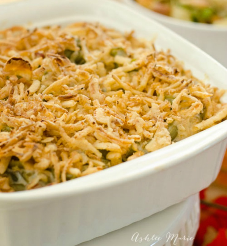 Green Bean Casserole, Thanksgiving Side Dishes your Guests will LOVE via Giggles Galore