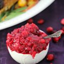 2 homemade cranberry sauce with apples