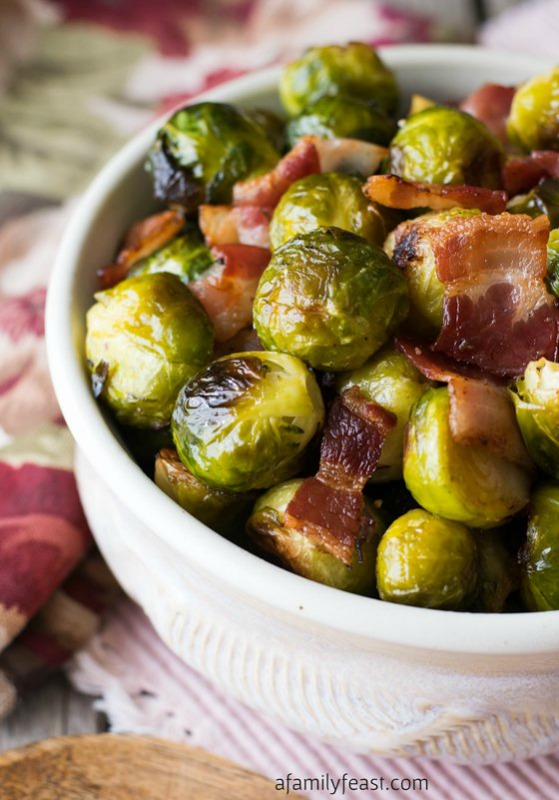 Oven Roasted Brussels Sprouts, Thanksgiving Side Dishes your Guests will LOVE via Giggles Galore