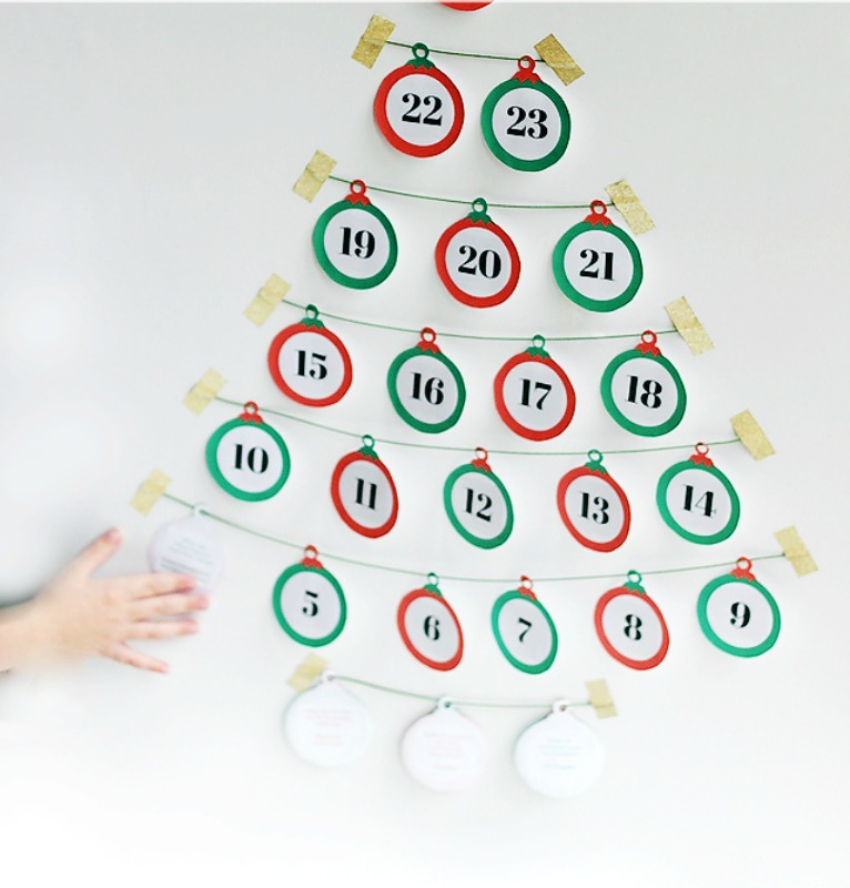 Advent Calendar with Jokes for Every Day, DIY Christmas Countdown Advent Calendar Ideas