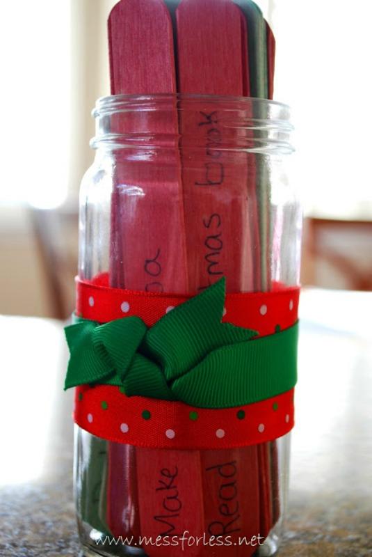Advent Activity Jar, DIY Christmas Countdown Advent Calendar Ideas