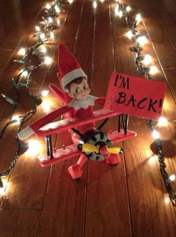 Airplane, Elf on the Shelf Ideas via Giggles Galore