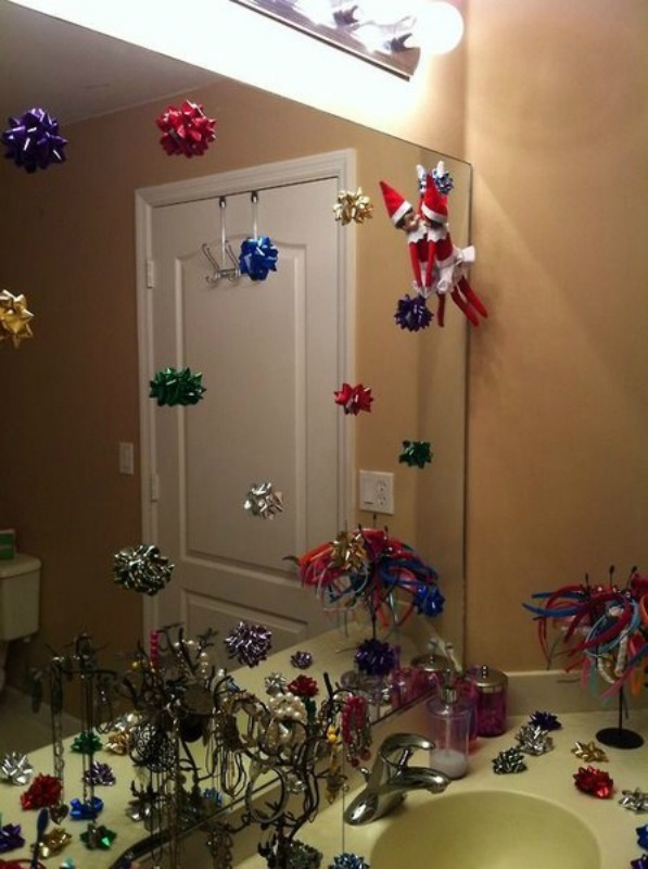 Bow fun, Elf on the Shelf Ideas via Giggles Galore