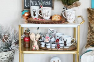 Christmas Morning Bar Cart