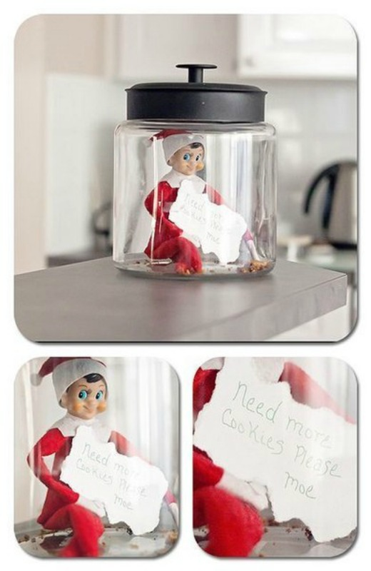 Cookie Jar, Elf on the Shelf Ideas via Giggles Galore