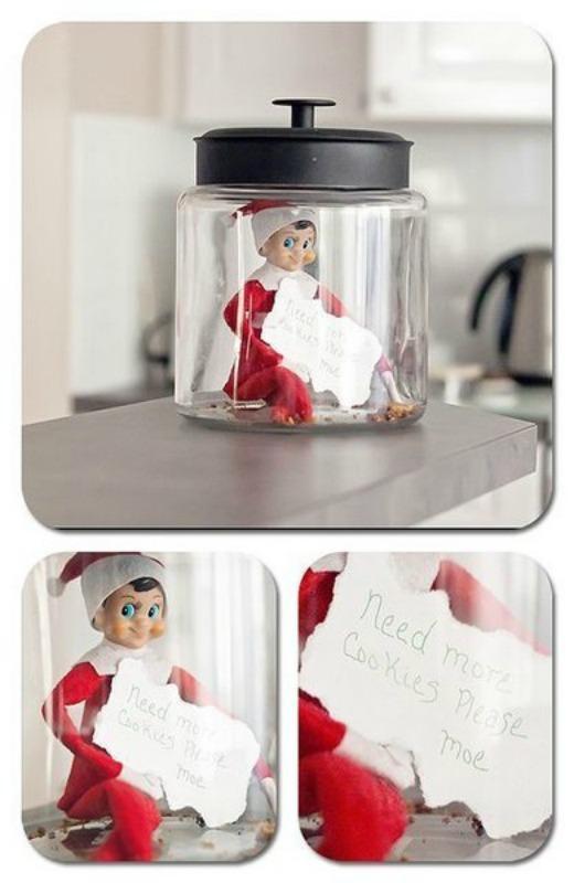 Cookie Jar, Elf on the Shelf Ideas via Giggles Galore